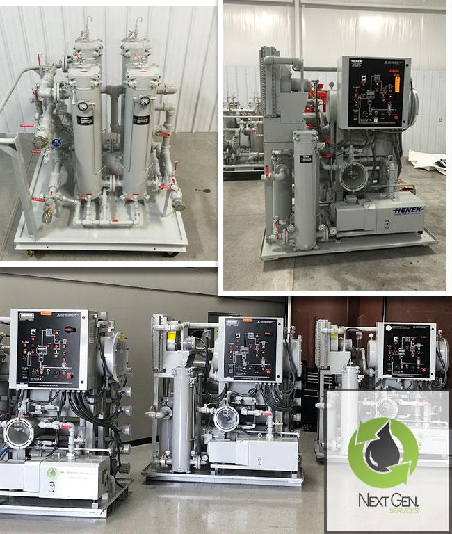 Oil reclamation equipment rental